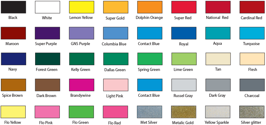 screen printing color chart chapel hill nc - Printing Color